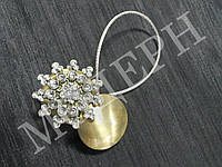 Магнит-подхват для штор Снежинка цвет антик