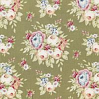 Отрез ткани последний Tilda Garden Flowers Green 10х110см, 481117