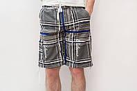 Мужские летние шорты серого цвета (удлиненные)