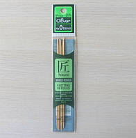 Спицы чулочные Clover бамбуковые двусторонние 13см 2мм