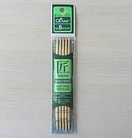Спицы чулочные Clover бамбуковые двусторонние 13см 4мм