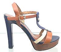 Босоножки женские Basconi из натуральной кожи на каблуке, женские босоножки