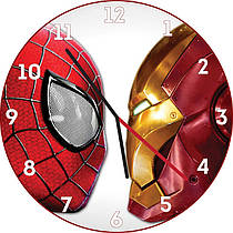 Настенные часы Спайдермен и Айронмен