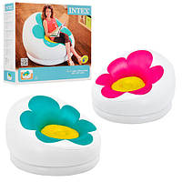 Кресло надувное с цветком Intex 102-99-64см