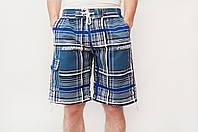 Мужские летние шорты голубого цвета (удлиненные)