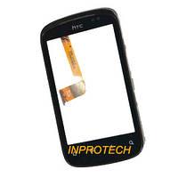 Сенсор (тачскрин) HTC Explorer A310e с рамкой Black Original