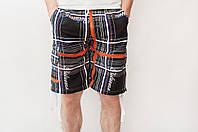 Мужские летние шорты черного цвета (удлиненные)