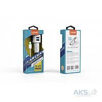 Зарядное устройство LDNio 2USB Car charger + Micro USB 3.4A White (DL-C29)