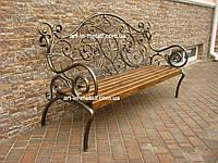 """Кованая скамейка """"Камелия"""""""