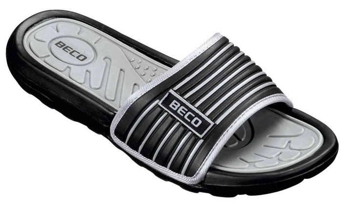 Мужские тапочки BECO чёрный/серый 9082 011 , фото 2