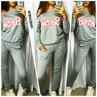 Костюм спортивный Barbie футболка-лодочка на одно плечо + брюки слим 381 (БУМ)
