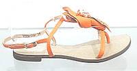 Босоножки женские из натуральной кожи без каблука