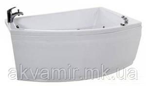 Ванна Тритон Бэлла 140х75х60 см акриловая ассиметричная (с каркасом и экраном)