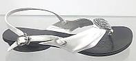 Босоножки женские Basconi белые из натуральной кожи без каблука, женские босоножки