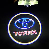Штатные проекторы логотипа в двери для Toyota