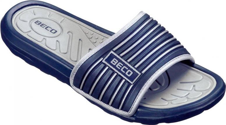 Мужские тапочки BECO тёмно-синий/серый 9082 711 , фото 2