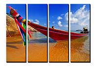 "Модульная картина ""Red boat"". Печать на холсте., фото 1"