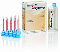 ACRYTEMP колір А3, 76g (50ml), 15 насадок композитна пластмаса для виготовлення тимчасових коронок