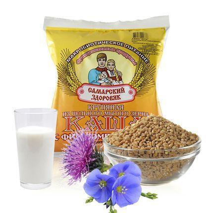 Каша № 80 + 79 + 21 -  Пробиотик А+ В, женьшень, расторопша, пшеница, лён.