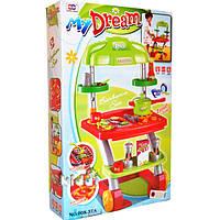 Кухня детская 008-37A, игровой набор с тележкой-гриль