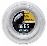 Cтруна для бадминтона Yonex BG-65 White (бобина 200 метров)