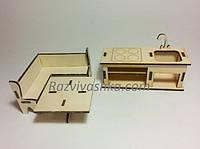 Кукольная (игрушечная) мебель Кухня для PetShop, зверюшек, пони, творчества , фото 1