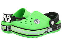 Оригинальные светящиеся Crocs Kids' Crocslight Star Wars Star Wars Yoda Light-Up Clog