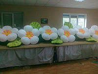"""Пневмогирлянда (пневмоцветы, надувные цветы) """"Персиковый цвет"""", фото 1"""