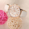 Стильные женские часы Geneva Platinum. Белые