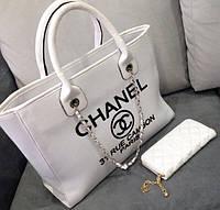 Сумка Chanel белая, сумка шанель женская