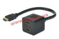 Адаптер Digitus HDMI Y 2m, black (AK-330400-002-S)