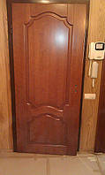 Накладка из массива на бронированную дверь