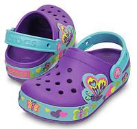 Оригинальные светящиеся кроксы Crocs Kids' Butterfly Light-Up Clog