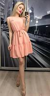 Платье коктейльное прима, персиковое