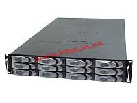 """19"""" 2U корпус-хранилище, 12x SCA HDD U320 (2 канала по 6 HDD), глубина 456мм, без Б (RJC-2E-0-SC3-2)"""