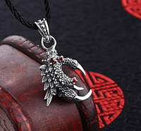 Мужской серебряный кулон Когти Дракона