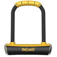 Замок U-образный ONGUARD BRUTE STD размер скобы 115x202мм толщина 16.8мм, поворотное крепление на раму, 4 ключ