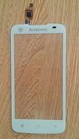 Оригинальный тачскрин / сенсор (сенсорное стекло) для Lenovo A378 | A378t (белый цвет)