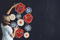 Панно Цветы Украины