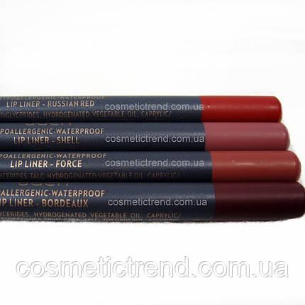 Карандаш для губ водостойкий деревянный Lipliner #36 Shell (натуральный, матовый) Aden Cosmetics , фото 2