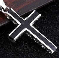 Cеребряный унисекс Крест Винтаж готика