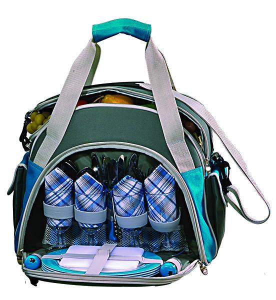 Набор для пикника на 4 персоны Time Eco Picnic в комплекте с изотермической сумкой 10л