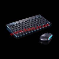 Комплект мышь+клавиатура Rapoo 8000 wireless, голубой (8000 Blue)