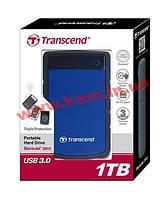 Внешний жесткий дискTranscend StoreJet 2.5 USB 3.0 1TB серия H Blue (TS1TSJ25H3B)