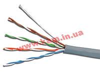 Телефонний кабель 4-пров., плоский, медний, черный (KD-TEL4C-BK)