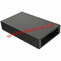 """ВО коробка для ВО з""""єднань (для 4-8 SC/ FC) без лицьової панелі, пуста, чорна (UA-FOBC-B)"""