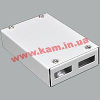 ВО бокс малий на 2SC Duplex адаптера, 120х80х28 мм, сірий (UA-FOBS2SCD-G)