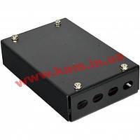 ВО бокс малий на 4FC/ ST Simplex адаптера, 120х80х28 мм, чорний (UA-FOBS4FC-B)