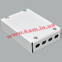 ВО бокс малий на 4FC/ ST Simplex адаптера, 120х80х28 мм, cірий (UA-FOBS4FC-G)