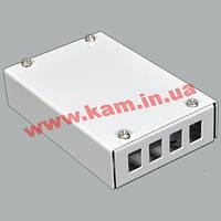ВО бокс малий на 4SC Simplex адаптера, 120х80х28 мм, сірий (UA-FOBS4SCS-G)
